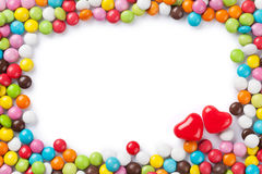 Colorful candies frame Stock Image
