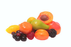 Colorful candies fruit shape. Colorful candies  in shapes of different fruits Royalty Free Stock Image