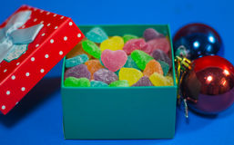 Colorful candies gifts on Valentine& x27;s Day Stock Image