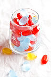 Colorful candies in glass jar Stock Photo
