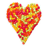 Colorful candies heart Stock Photography