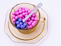 Colorful Candies, Heart Shaped Spoon royalty free stock images