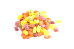 Colorful candies isolated Royalty Free Stock Photo