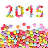 2015 colorful candies Royalty Free Stock Images
