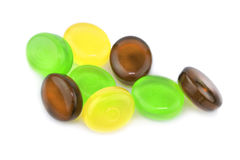 Colorful candies isolated on white background Royalty Free Stock Photo