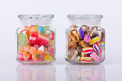 Colorful candies in the jar Royalty Free Stock Photos