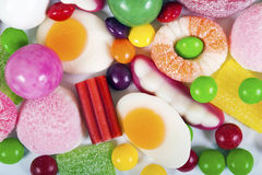 Colorful candies and jellies background Royalty Free Stock Image