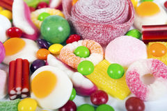 Colorful candies and jellies background Royalty Free Stock Photography
