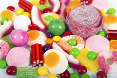 Colorful candies and jellies background Royalty Free Stock Photo