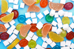 Colorful candies and jellies Royalty Free Stock Images