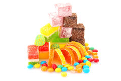 Colorful candies jelly Royalty Free Stock Image