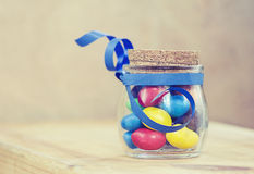 Colorful candies jelly beans Royalty Free Stock Photo