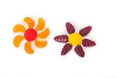 Colorful candies like flowers Stock Images
