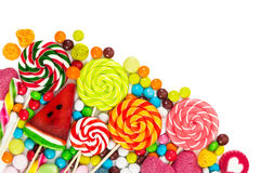 Colorful candies and lollipops royalty free stock photo