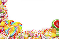 Colorful candies and lollipops Stock Image