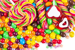 Colorful candies and lollipops Stock Photography