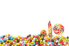 Colorful candies and lollipops Stock Images