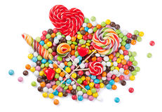 Colorful candies and lollipops Royalty Free Stock Photography