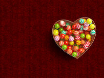 Colorful Candies in love bowl Stock Images