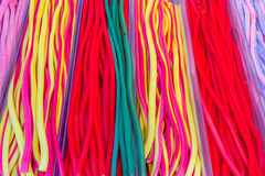 Colorful candies at the market. Vibrant and colorful jelly candies at the market royalty free stock photos