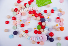 Colorful candies. A mix of colorful artificially flavoured candies Stock Photography