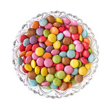 Colorful candies plate Royalty Free Stock Photos