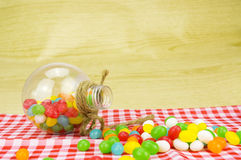 Colorful candies. With shallow depth of field (dof)-diet and healthy teeth concept Royalty Free Stock Photography