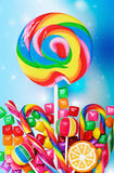 Colorful candies and sweets Stock Photography