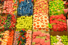 Colorful candies and sweets at marketplace Stock Image