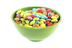 Colorful candies sweets. On white background Stock Photos