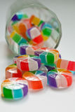 Colorful candies. There are some colorful candies on a white background Stock Image
