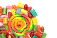 Colorful candies on white background Stock Image