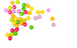 Colorful candies on white. Royalty Free Stock Images