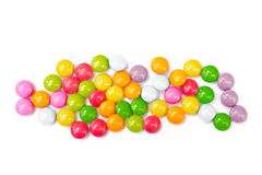Colorful candies on white. Stock Photography