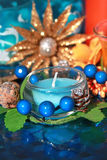 Colorful candle Royalty Free Stock Photography