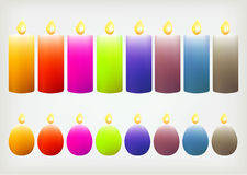 Colorful candle Royalty Free Stock Image
