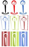 Colorful candle set Royalty Free Stock Photos