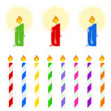 Colorful candle vector Stock Images