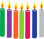 Colorful candles Stock Photos