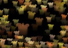 Colored candles celebration vector illustration