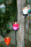 Colorful candles Royalty Free Stock Photography