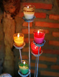Colorful candles Stock Images