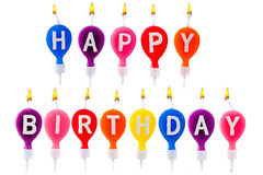 Colorful candles happy birthday Royalty Free Stock Images