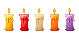 Colorful candles. Vector illustration. Stock Image