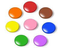 Colorful candy. Drawn with accurate gradient mesh. Eps file included Royalty Free Stock Photos