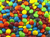 Colorful candy. Colorful close up of chocolate candy stock photo