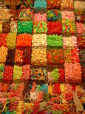 Colorful candy. The candy section in a La Boca market in Barcelona Stock Image