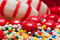 Colorful candy assortment Royalty Free Stock Images