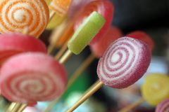 Colorful candy background stock image