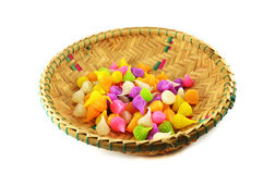 Colorful candy in Basket Royalty Free Stock Photography